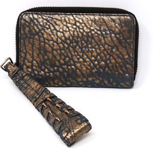 OLIVIA HARRIS Hunger Spice Leather Wallet Wristlet